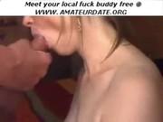Blonde on Webcam Creampie Blowjob Cum Swa ...