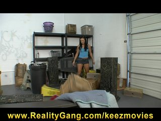 Sexy brunette employee Ashli Orion sucks & fucks boss s big-dick