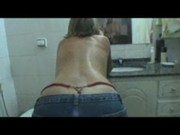 Filming his girlfriends perfect ass and pussy