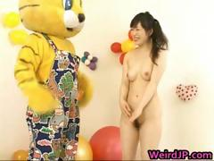 Asian Girl Is Showing Off On Television Part3