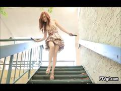 Tight Redhead Teen Babe Sticking Two Part4