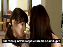 Megan And Lisette Brunette Lesbians Kissing And Having Lesbian Sex