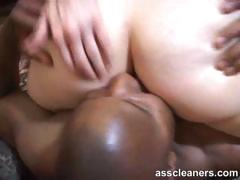 Black Slave Is Facesitted As He Licks White Chic's Ass Hole