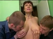russian mom was fucked by her sons