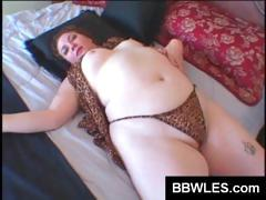 Hot Pink Vibrator Goes Deep Inside A Chubby Tramp's Vagina