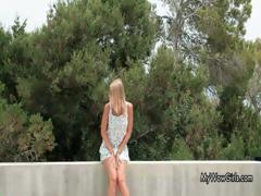 Cute Blonde Teen Sweetheart Showing Part3