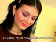 Busty brunette beauty anal creampie