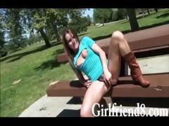 Skanky Brunette Gf Jenna Rose Screwed Up On The Couch