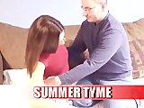 Small Tits Brunette Fucks Old Guy - T & A Studios