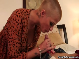 Busty Bald MILF Joslyn James Rides Hardcore After BJ In 69