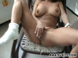 Busty Amateur Girlfriend Fucked On The Floor With Cumshot
