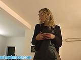 Charming lady lapdances for a stranger