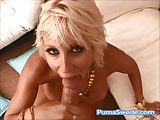 Puma Swede Swallows A Big Load of Jizz Poolside!