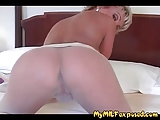 My MILF Exposed - Hot MILF in pantyhose playing with pussy