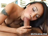 Hot and horny Thai bitch gets fucked by her man