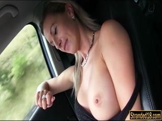 Big tits blondie Alena fucked in public