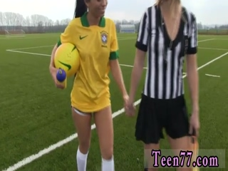 Brazilian player romping the referee
