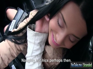 Long haired teen hitchhikes and pounded