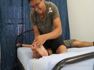 Asian Boy Lance Tied and Tickled