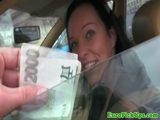 Eurobabe pickedup and pussyfucked in the car