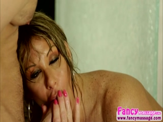 Mature and busty Farrah Dahl gets her pussy hammered by Seth