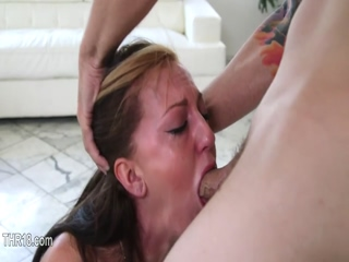 Sexy blowjob and really cute deepthroat