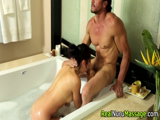 Stunning masseuse jerk