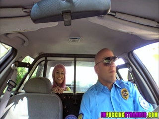 Horny babe Aidra Fox gets her pussy fucked by a cops big cock