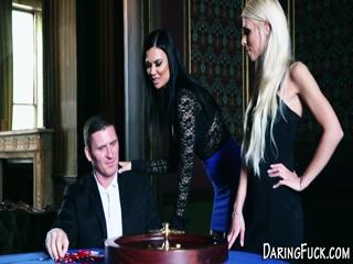 Euro babe cum face casino