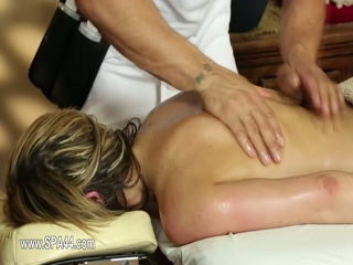 Amazing glamours on special massage bed 3