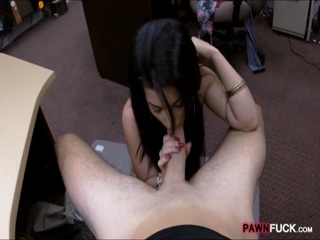 Sexy Cuban chick fucked at the pawnshop 2