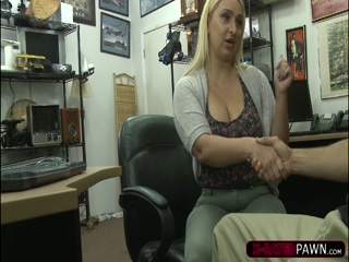 Gonzo big ass Nina fucks a pawnmans cock