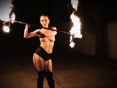 Teamskeet - Brunette Fire Spinner Gets Flaming Hot Fucking