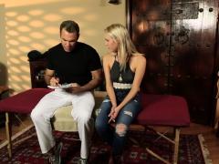 Banged Massaged Blonde