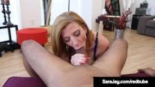 Sex Fiend Milf Sara Jay Sucks & Jacks Off A Huge Black Cock!