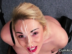 Randy Doll Gets Cum Load On Her Face Gulping All The Jism03z