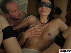 Brunette Babe Sucking Dick And Balls
