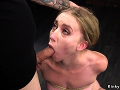 Blonde Rough Pussy And Anal Fucked In Dungeon