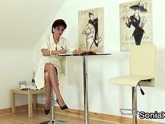 Unfaithful English Milf Lady Sonia Shows Off Her Oversized J