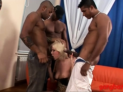 Kinky Slut All Fuckholes Railed By Massive Black Cocks