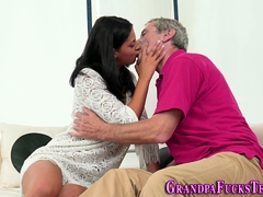 Teen Spunked By Old Guy