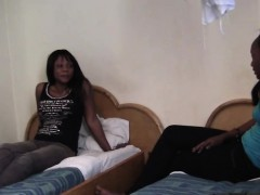 Here We Have Two Hot Black Girls Who Get Bored In A Hotel