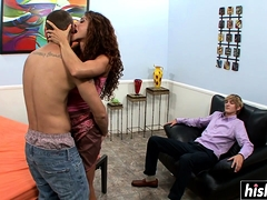 Busty Ariella Pleases A Long Pecker