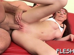 Breasty Luscious Teen Screwed By Dad