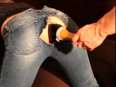 Kinky Lady Gets Fucked With A Wine Bottle