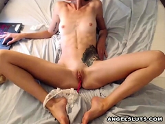 Hottest Slim Teen Plays Her Sweet Inviting Cooter