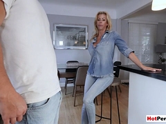 My Hot Milf Stepmother With Big Tits Blows My Big Cock