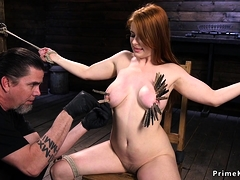Huge Tits Redhead Gets Zippered
