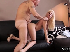 Old White Man Fucks Ass Horny Blonde Wants To Attempt