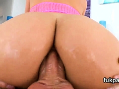 Attractive Doll Shows Massive Ass And Gets Butt Hole Nailed0